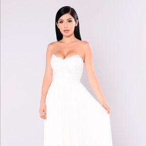 Strapless maxi dress wedding